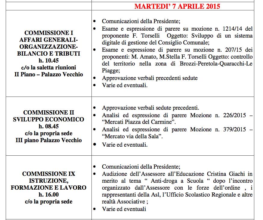 Firenze commissioni consiliari 2