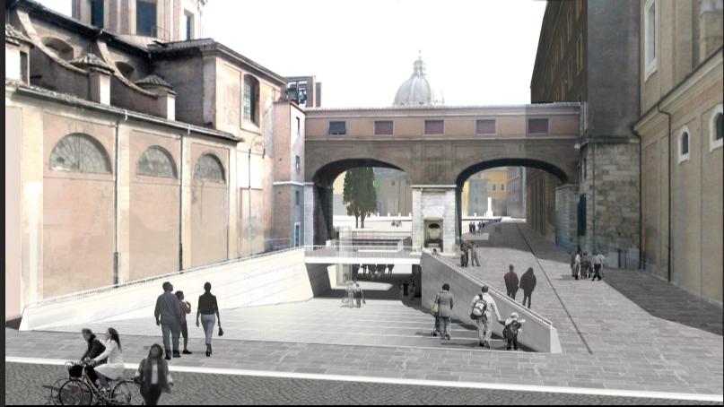 Rendering del progetto per il Mausoleo di Augusto