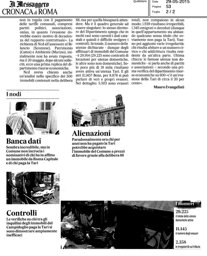 Messaggero 2 TARI evasione 2015-05-29