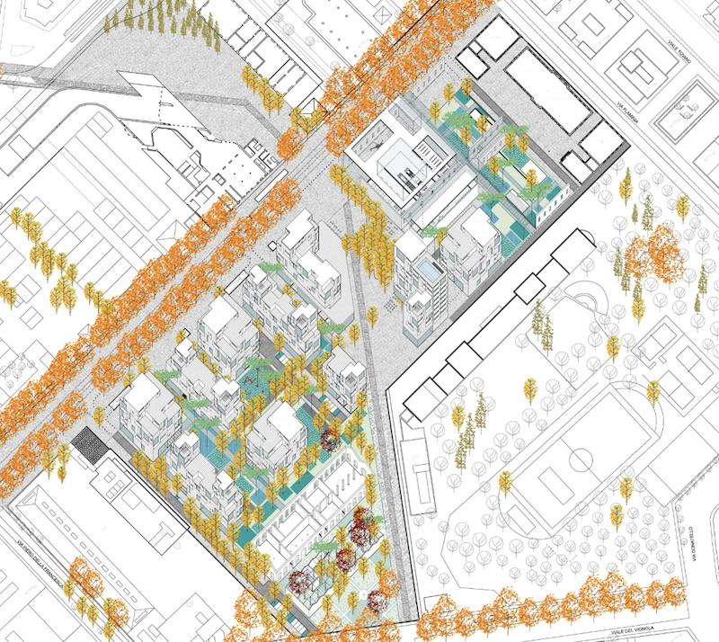 Il progetto vincitore del concorso per il masterplan  (Studio Viganò)