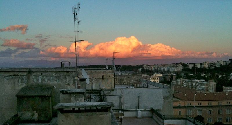 citta case tramonto foto AMBM IMG_5373