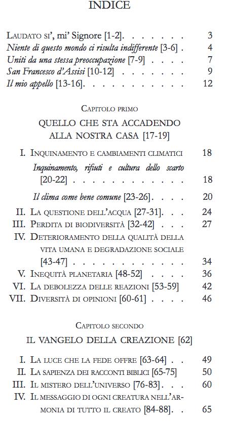 indice enciclica papa 1