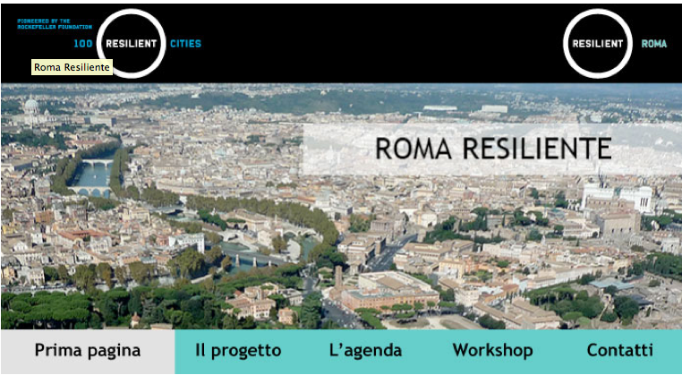 roma resiliente dal sito dle Dipartimento urbanistica