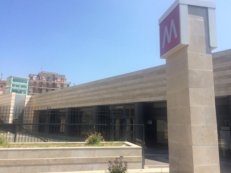 Metro C stazione Centocelle (foto Ambm)