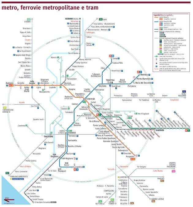 atac mappa metro ferrovie metropolitane e tram ago 2015