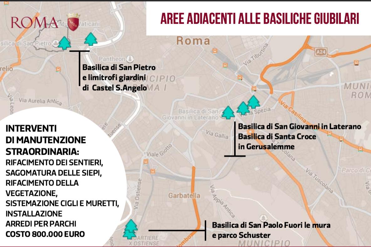 interventi Giubileo Comune Roma 12 ago 2015 verde e parchi 1