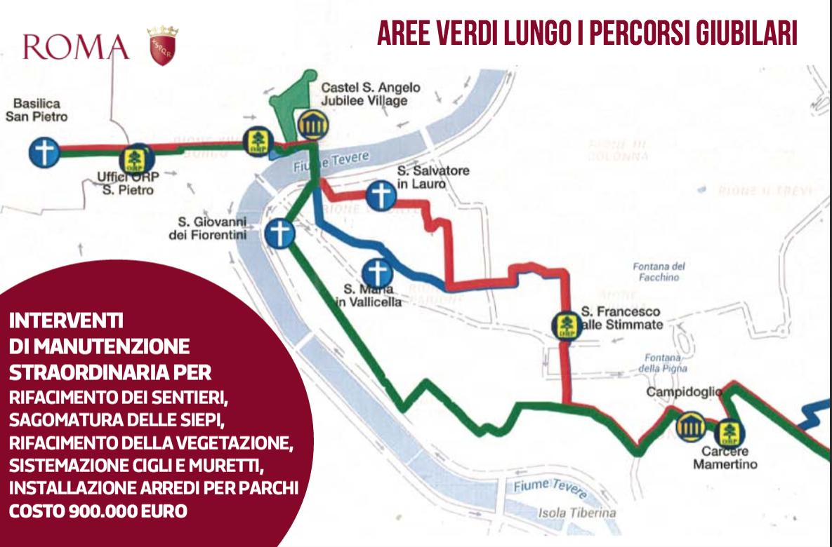 interventi Giubileo Comune Roma 12 ago 2015 verde e parchi 2