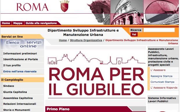 pagina comune roma per il Giubileo