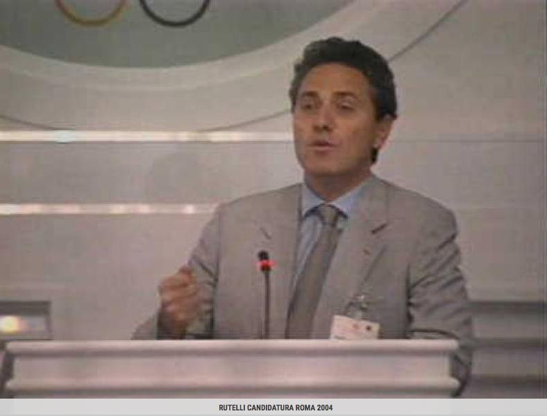 Il Sindaco Francesco Rutelli alla presentazione della candidatura di Roma 2004