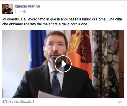 Marino Fb discorso dimissioni