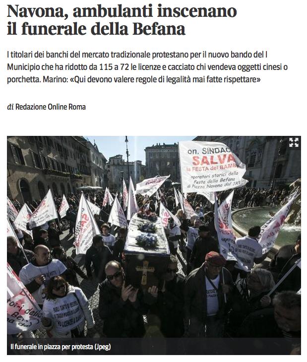 articolo dal sito del  Corriere Piazza Navona