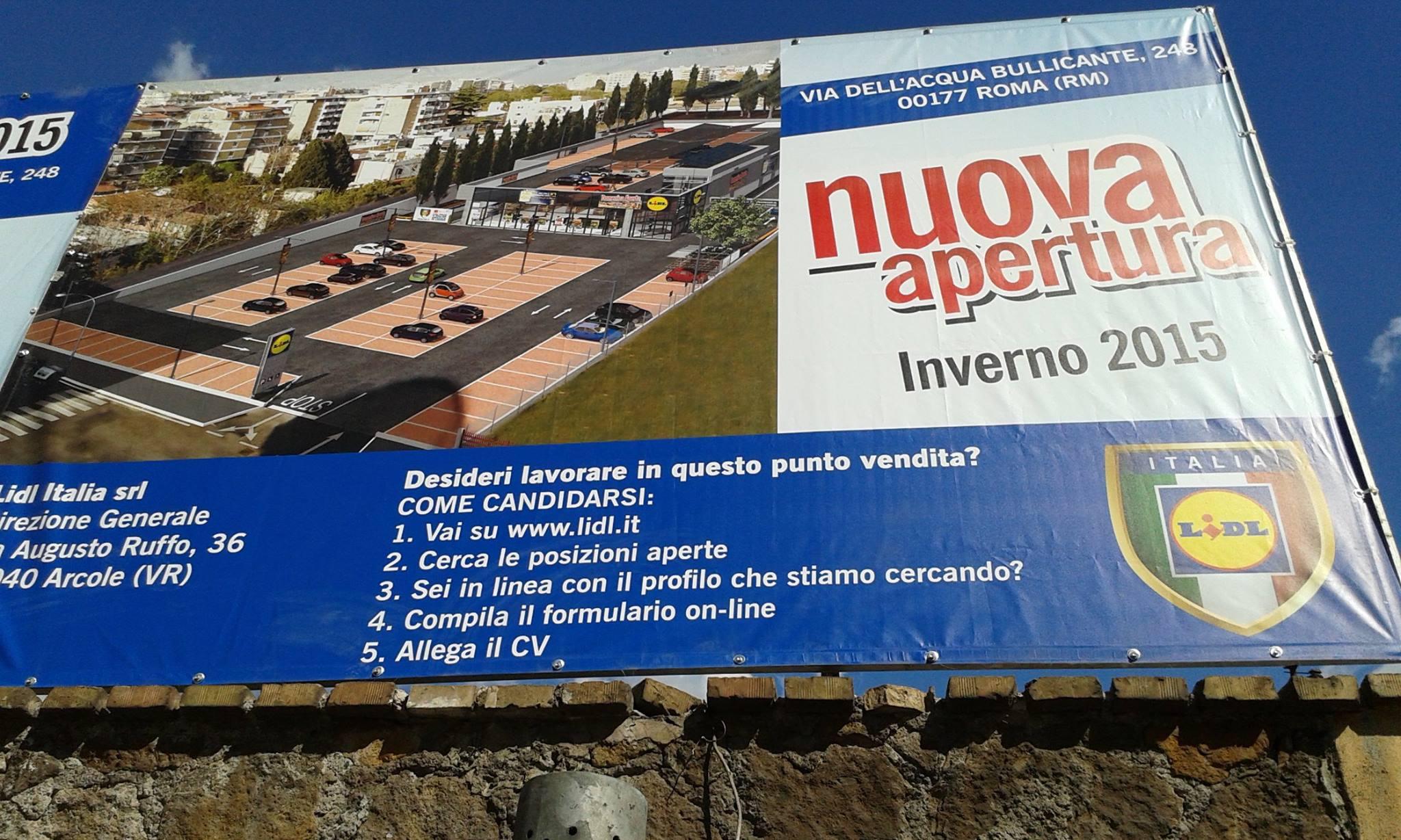 Foto dalla pagina Facebook di Nocemento Roma est