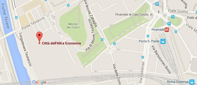 MAPPA CITTA DELL'ALTRA ECONOMIA