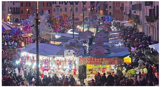 da Romafaschifo, bancarelle a  Piazza Navona