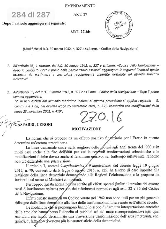 emendamento Gasparri