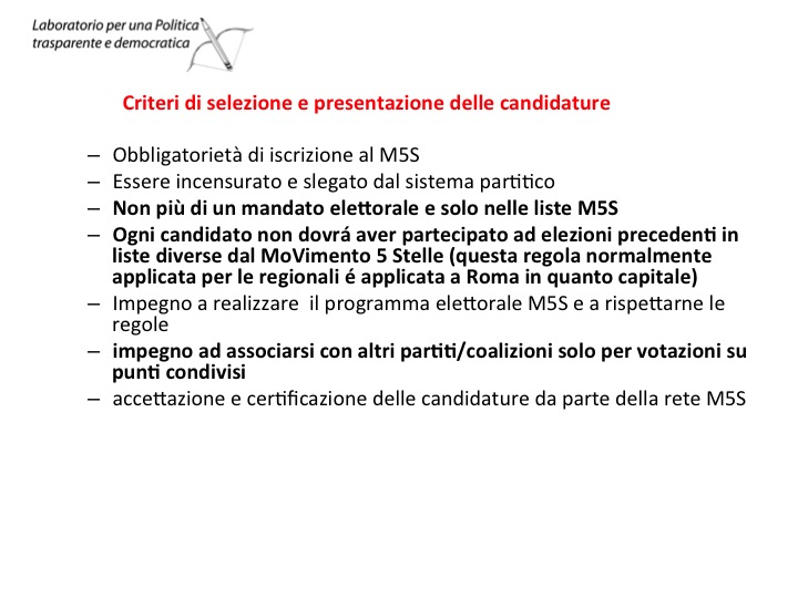 Candidature M5S Gelsomini Filotico Lombardi 2