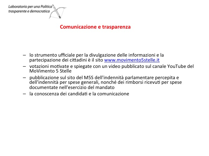 Candidature M5S Gelsomini Filotico Lombardi 5