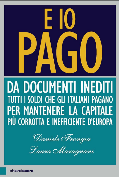 """Libro Frongia """"E io pago"""" 2015"""