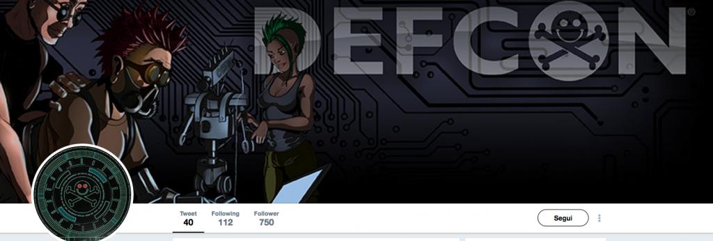 il profilo twitter del pirato informatico