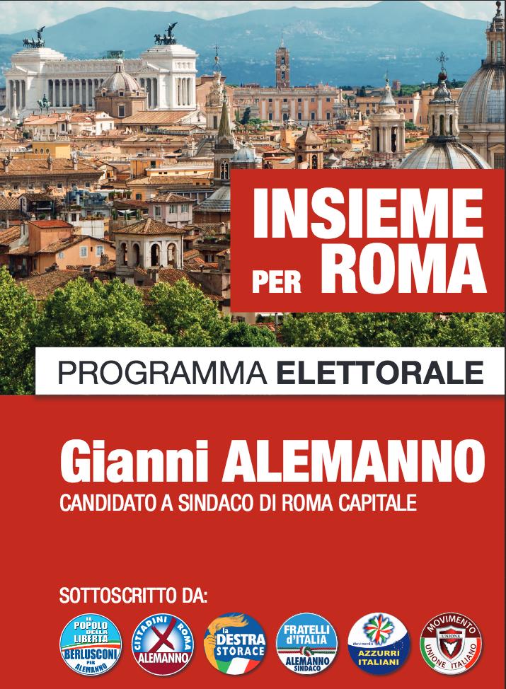 COPERTINA PROGRAMMA ELETTORALE ALEMANNO 2013