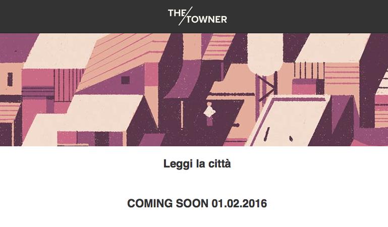 Schermata sito the towner leggi la citta