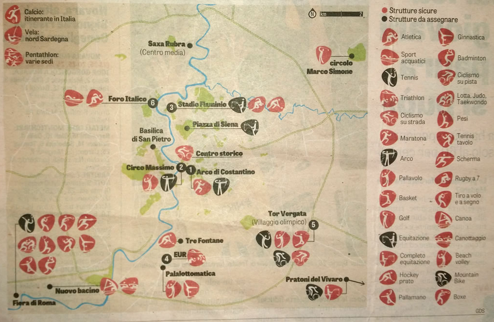 impianti per Roma 2024  pag 33  Gazzetta dello Sport  domenica 22 novembre 2015