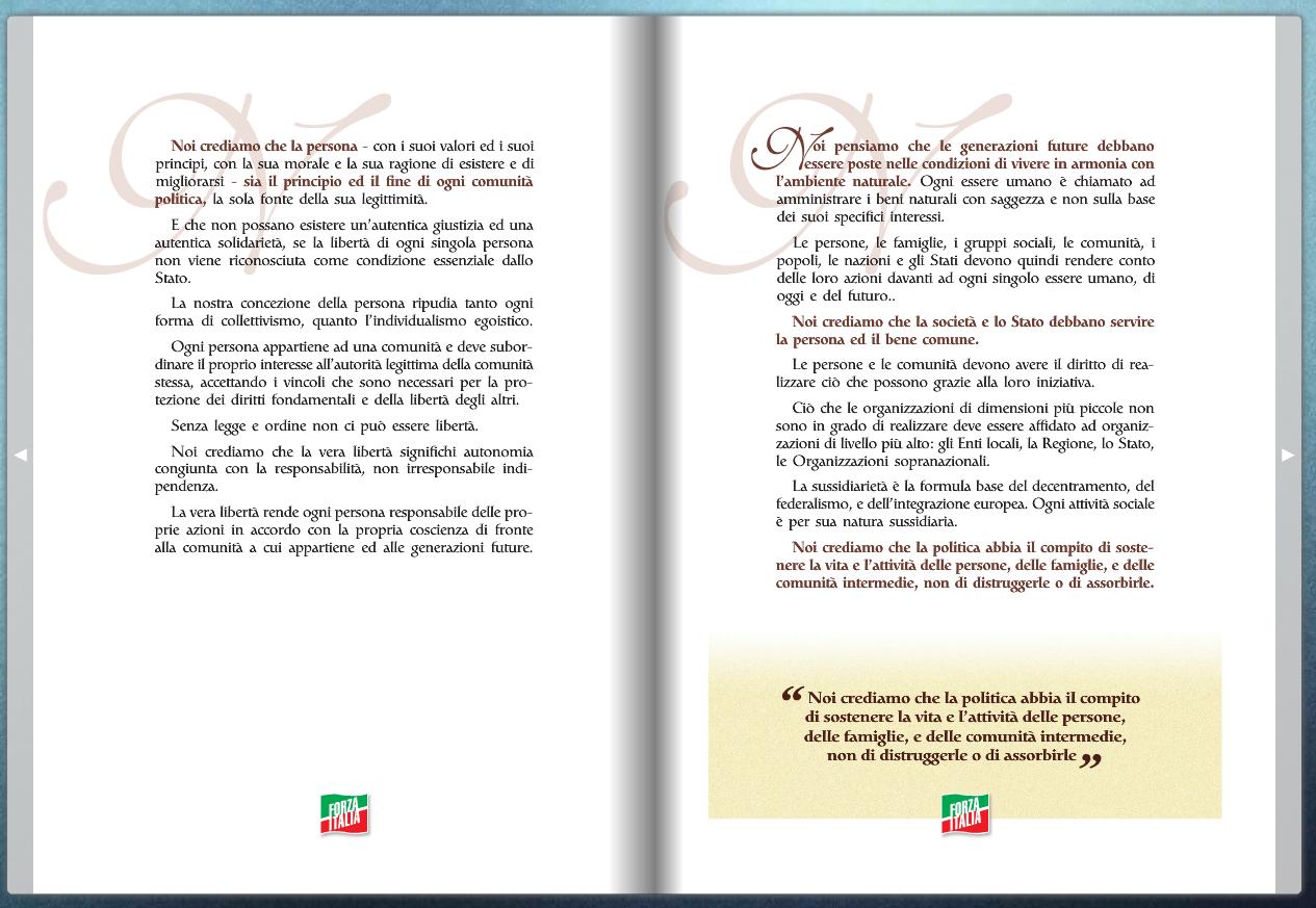 Carta dei valori di Forza Italia