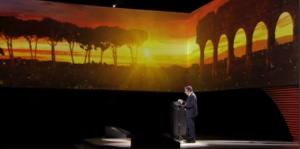 Immagine dal video della diretta all'EUR per la presentazione del Dossier olimpico il 17 febbraio scorso