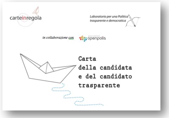 copertina Carta del candidato trasparente
