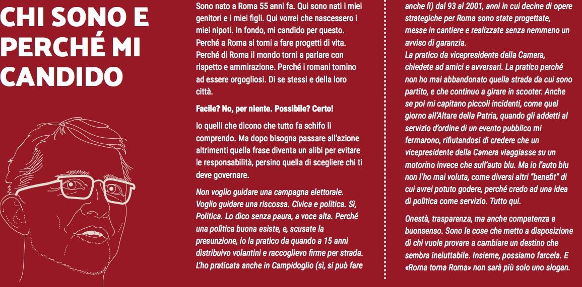 La nuova biografia sintetica sul sito di Roberto Giachetti