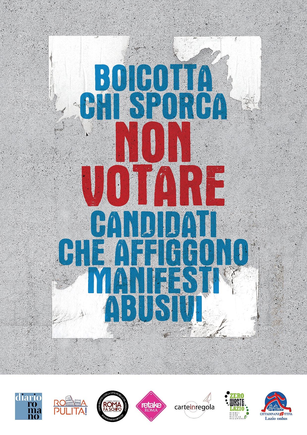 manifesto non votare chi sporca