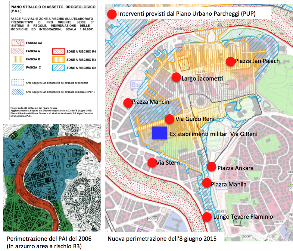 mappa Pai Falminio 2016 con ex caserme