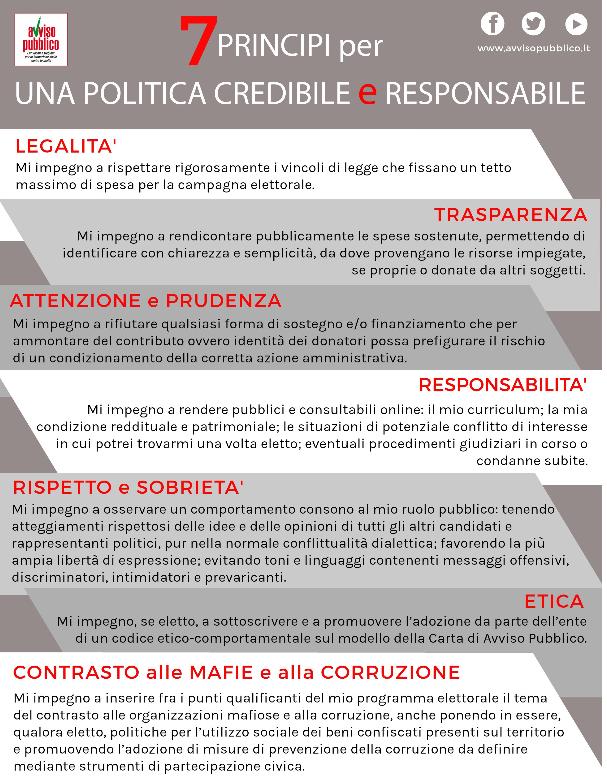7 principi avviso pubblico
