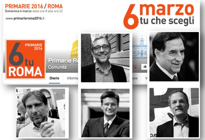 candidati primarie roma fb
