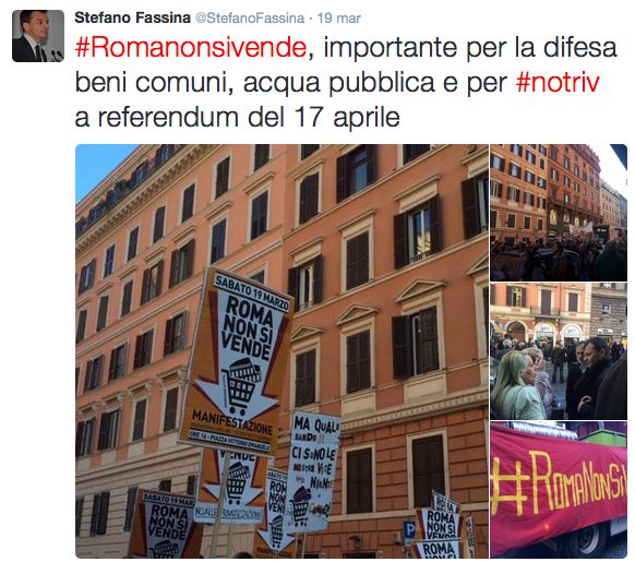 fassina tweet roma non si vende