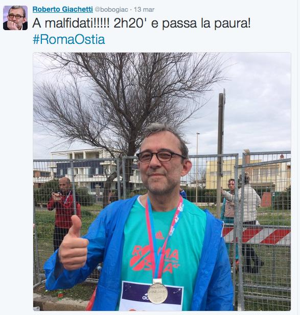 giachetti tweet dopo maratona