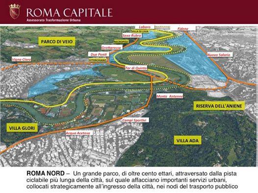 Il progetto del Comune per Roma2024 presentato a Losanna prevedeva il villaggio olimpico tra Salaria e Flaminia, nell'ex areoporto dell'Urbe