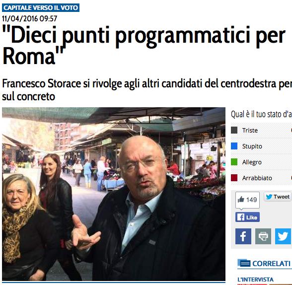 sito giornale d'italia punti storace