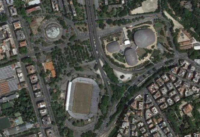 stadio flaminio map