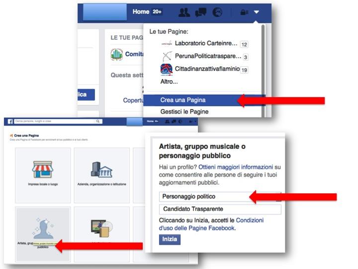 istruzioni per creare pagina Facebook  1