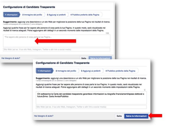 istruzioni per creare pagina Facebook  2