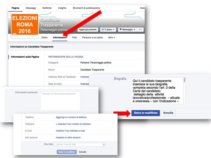 istruzioni per creare pagina Facebook  8