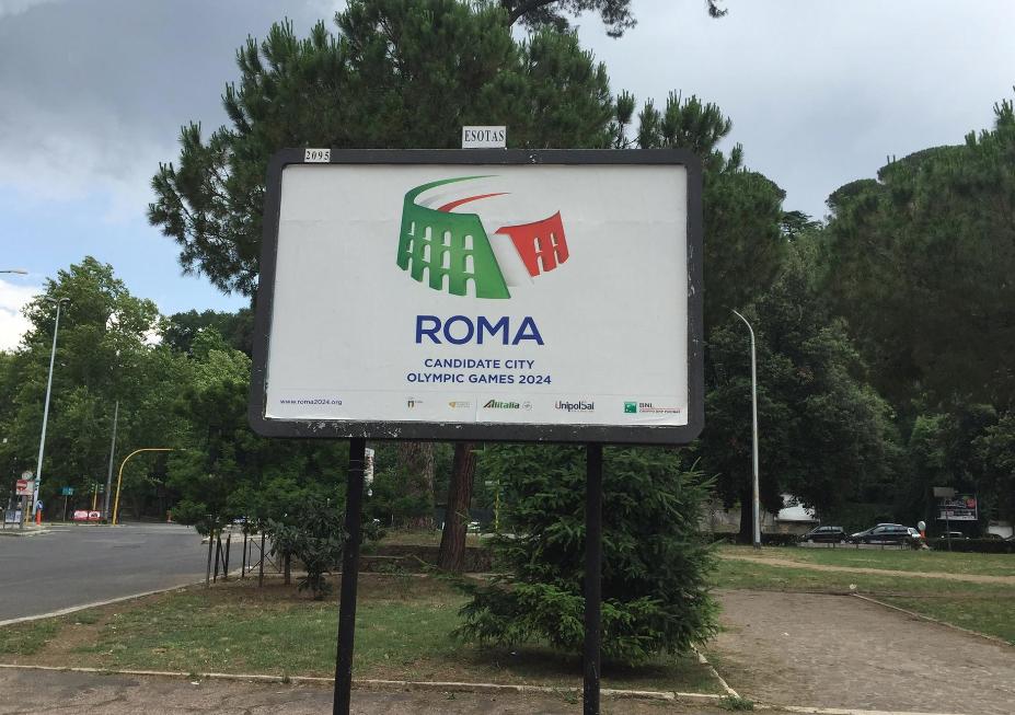 La campagna affissioni del Comitato Olimpico nella Capitale