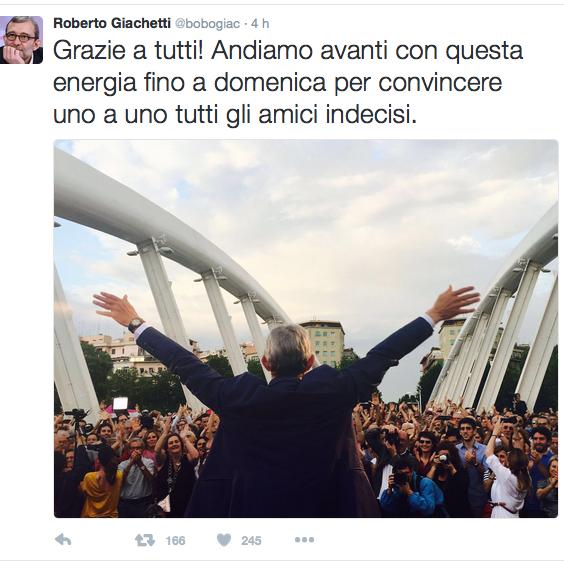 Tweet Giachetti ponte della musica Schermata 2016-06-18 alle 00.33.30