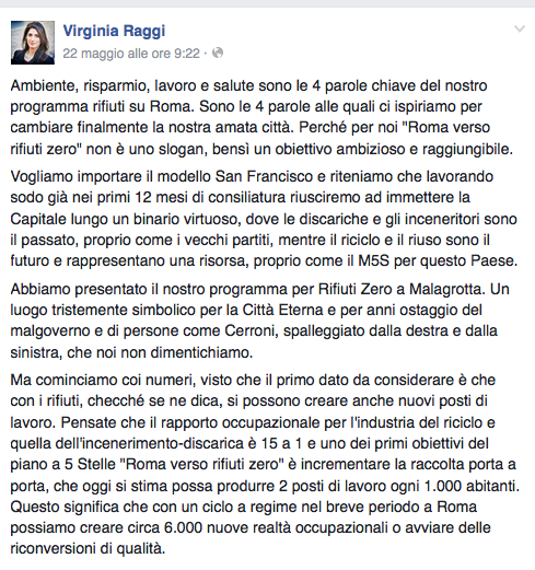 da pagina fb https://www.facebook.com/virginia.raggi.m5sroma/videos/589102801272173/