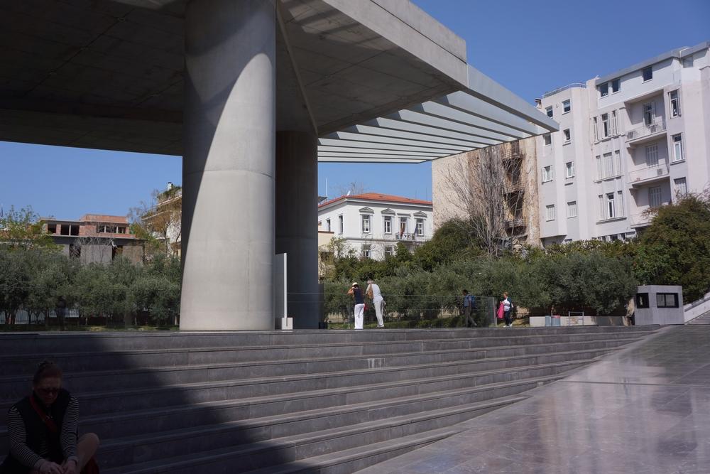 Ingresso al nuovo Museo dell'Acropoli