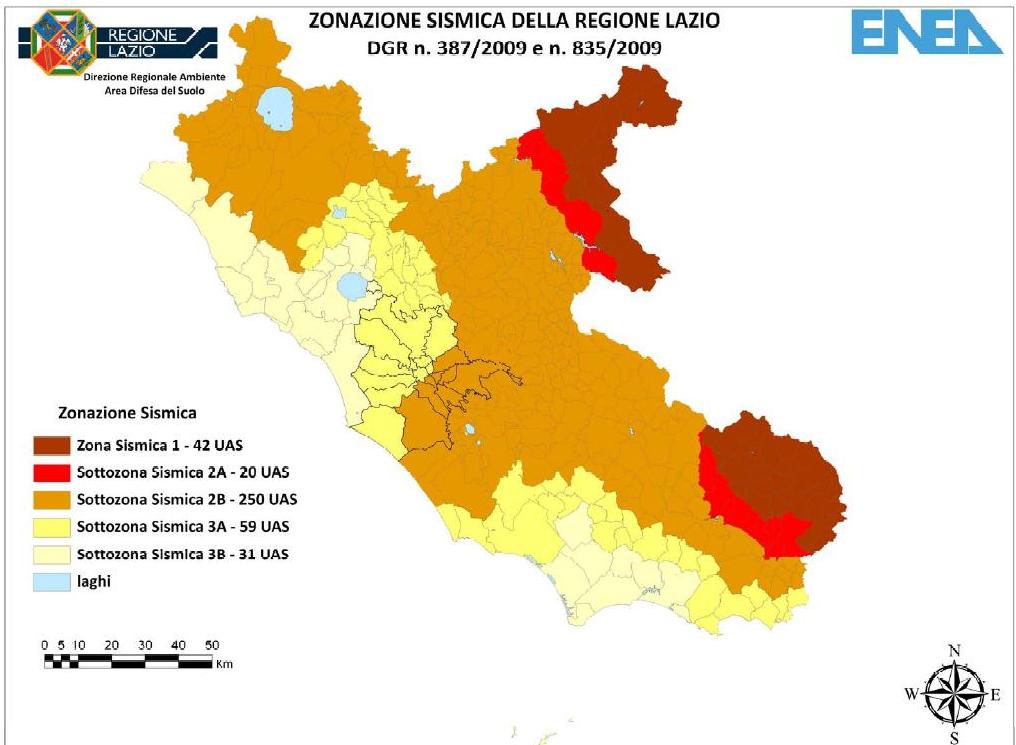 protezione civile mappa sismica lazio