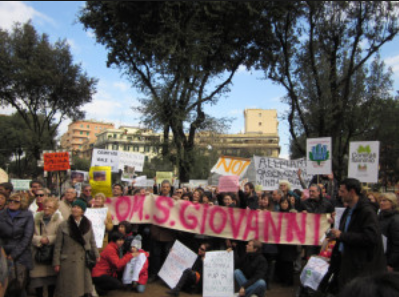 Manifestazione Piazza  Re di Roma