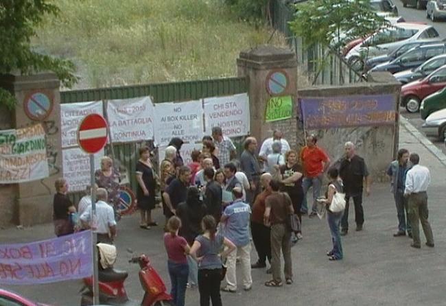 Manifestazione in Via Cesena