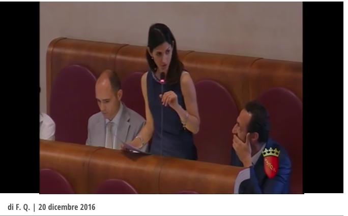 Video da il fatto quotidiano Intervento Raggi assemblea capitolina giugno 2015